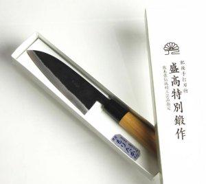 画像3: 三徳小包丁 130mm 青紙 ベーシックシリーズ/切れ味抜群 無料研ぎ直し券付き