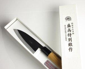 画像2: 小出刃包丁 110mm 青紙 ベーシックシリーズ/切れ味抜群 無料研ぎ直し券付き
