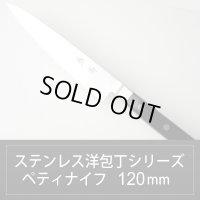 ペティナイフ 120mm ステンレス洋包丁シリーズ/切れ味抜群【無料研ぎ直し券付き】
